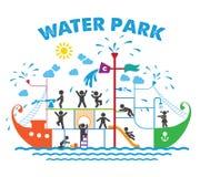 Aqua parkowa płaska wektorowa ilustracja Zdjęcie Stock