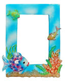 Aqua Photo Frame. Photo of cool fishy photoframe :) girls are happy - when they see their portraits in such a frame royalty free stock images