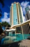 Aqua Pool. Tropical pool in a Gold Coast resort hotel Royalty Free Stock Image