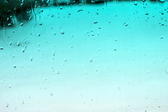 Aqua Raindrop Background Stock Photo