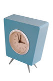 Aqua retro clock Royalty Free Stock Photos