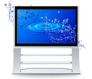 Aqua ripple plasma television Royalty Free Stock Photo