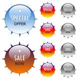 Aqua sale stickers Royalty Free Stock Photo