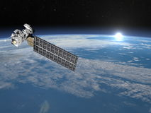 Aqua satellite - 3D render Royalty Free Stock Photos