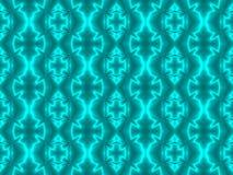 Aqua Seamless Tile al neon Fotografie Stock Libere da Diritti