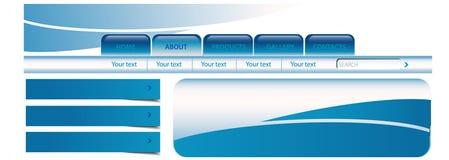 Aqua site template Stock Images