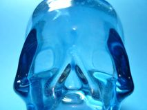 Aqua skull Royalty Free Stock Image