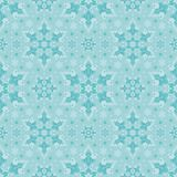 Aqua Snowflake Seamless Vector Pattern stock illustratie