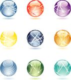 Aqua spheres stock illustration