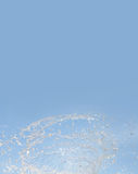 Aqua splashing in dynamic motion. Water splash. Aqua splashing in dynamic motion. Blue sky, summer time background. copy space Stock Image