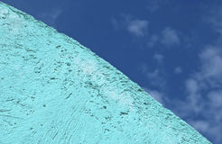Aqua stucco sky background Royalty Free Stock Photography