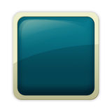 Aqua style - cerulean button. Visually appealing, free of emblem aqua style button Royalty Free Stock Image