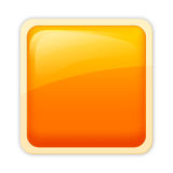 Aqua style - flame hue. Visually appealing, free of emblem aqua style button Royalty Free Stock Photo