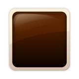 Aqua style - sinopia button Stock Photography