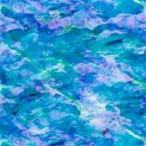 Aqua Teal Turquoise Watercolor Paper Background azul ilustração do vetor