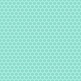 Aqua & teste padrão branco dos hexágonos, fundo sem emenda da textura Fotos de Stock Royalty Free