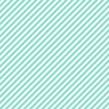 Aqua & teste padrão diagonal branco das listras, backgrou sem emenda da textura Foto de Stock Royalty Free