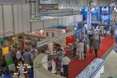 Aqua-Therm handelstentoonstelling in Kiev, de Oekraïne Stock Afbeelding