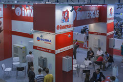 Aqua-Therm trade exhibition in Kiev, Ukraine Royalty Free Stock Photos