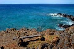 Aqua tief auf großer Insel stockfoto