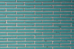 Aqua Tile Bricks with White Grout Texture Stock Images