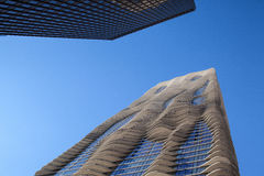 The Aqua Tower on June 7, 2013 in Chicago. Stock Photos