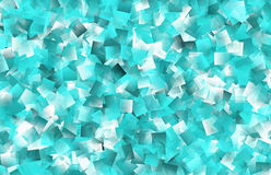 Aqua Transparent Overlapping Geometric Shapes Background. This abstract background in shades of green, blue, and white consists of transparent overlapping Royalty Free Stock Photo