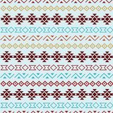 Aqua vector tribal seamless pattern background. royalty free illustration