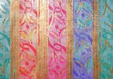 Aqua Violet Ribbon Paper Background rose bleue multicolore Photographie stock