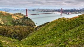 Aqua Water Golden Gate Bridge royalty-vrije stock foto's