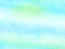 Aqua Watercolour papieru obmycie Fotografia Stock