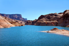 Aqua Waters of Lake Powell Stock Photography
