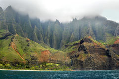 Aqua Waters of Na Pali Stock Image