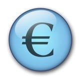 Aqua web button. Aqua button euro sign - web button - website design Royalty Free Illustration