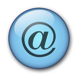 Aqua web button Royalty Free Stock Images
