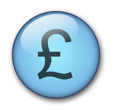 Aqua web button. Aqua button pound - web button - - website design Royalty Free Illustration