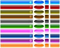 Aqua web buttons Stock Images