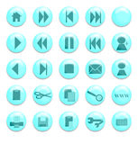 Aqua Website Buttons. Buttons for use on a website Stock Illustration