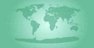 Aqua world map. World map with retro feel Stock Image