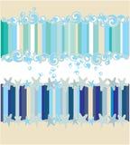 Aqua y mar y estrellas stock de ilustración