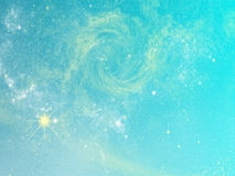 Aqua and yellow abstract background Royalty Free Stock Photography
