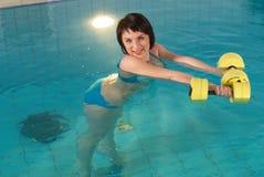 aquaaerobic κορίτσι Στοκ Εικόνα
