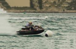 Aquabike竞争喷气机滑雪竞赛 免版税库存照片