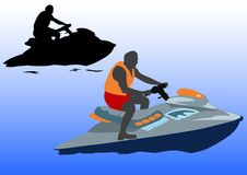 Aquabike Royalty Free Stock Photos