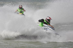 Aquabike championship. Royalty Free Stock Photography