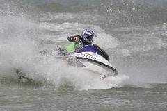 Aquabike championship. Royalty Free Stock Photo