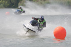 Aquabike championship. Royalty Free Stock Images