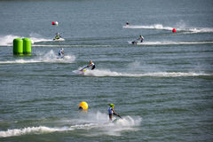 Aquabike  race competition Royalty Free Stock Images