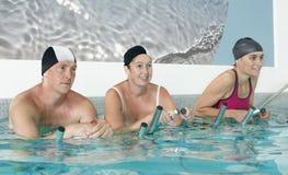 Aquabiking Στοκ εικόνα με δικαίωμα ελεύθερης χρήσης
