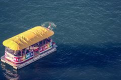 Aquabus Boat to Granville Island Vancouver. Beautiful sea. royalty free stock photography